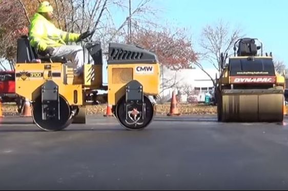Compacting Asphalt Layer VA Commercial Paving Winchester, VA